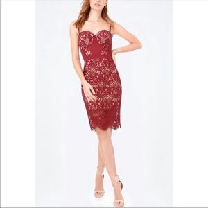 NWT Bebe Clarissa Lace Bustier Dress - Size 6